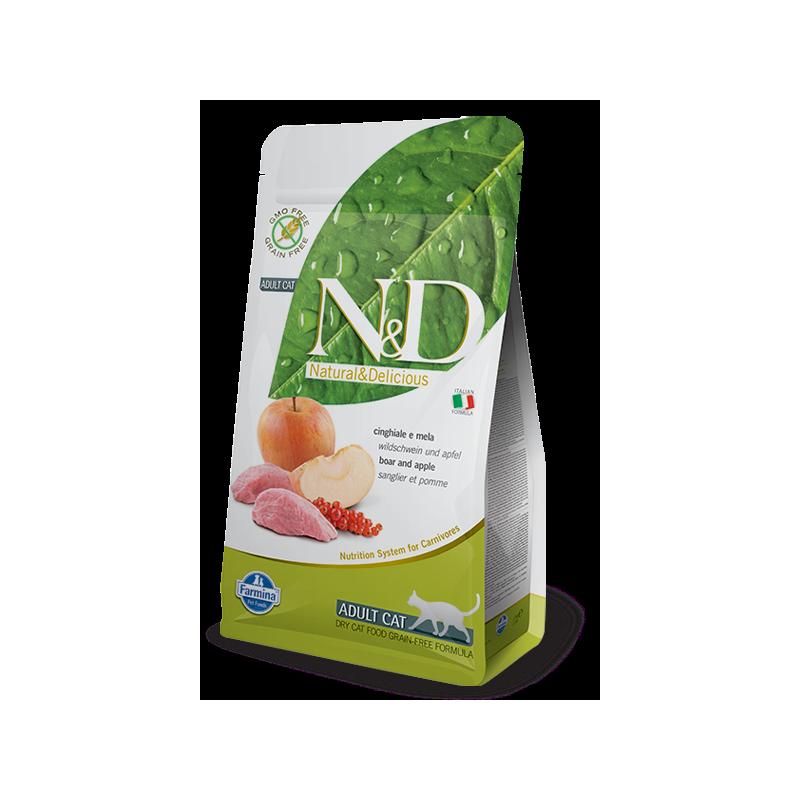 farmina grain free adult cinghiale mela