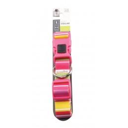 M-Pets Stripes Rosa Collare...