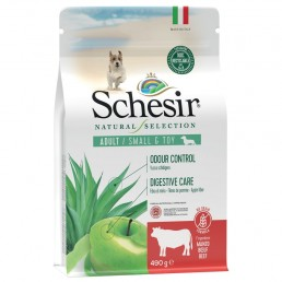 Schesir Natural Selection Adult Small e Toy al Manzo per Cani