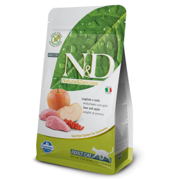 Farmina N&D Grain-Free Adult Cat con Cinghiale e Mela per Gatti