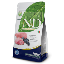 Farmina N&D Grain-Free Adult Cat con Agnello e Mirtillo per Gatti