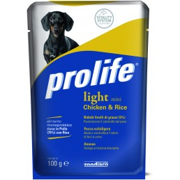 Prolife Light Mini con Pollo e Riso Umido per Cani