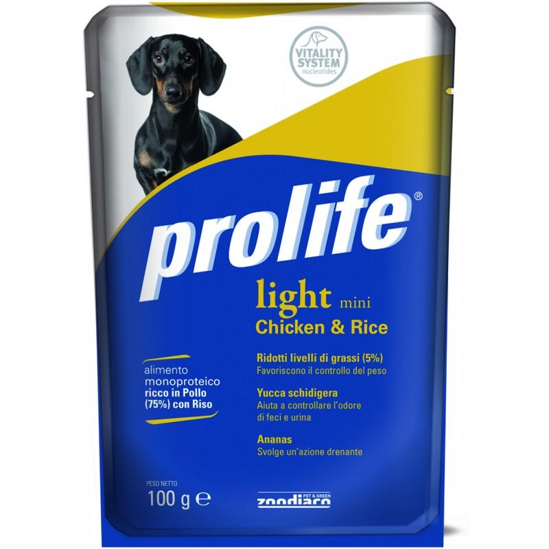 Prolife Light Mini con Pollo e Riso Umido per Cani