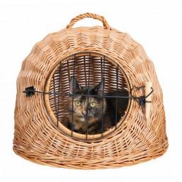 Trasportino in Vimini per Gatti