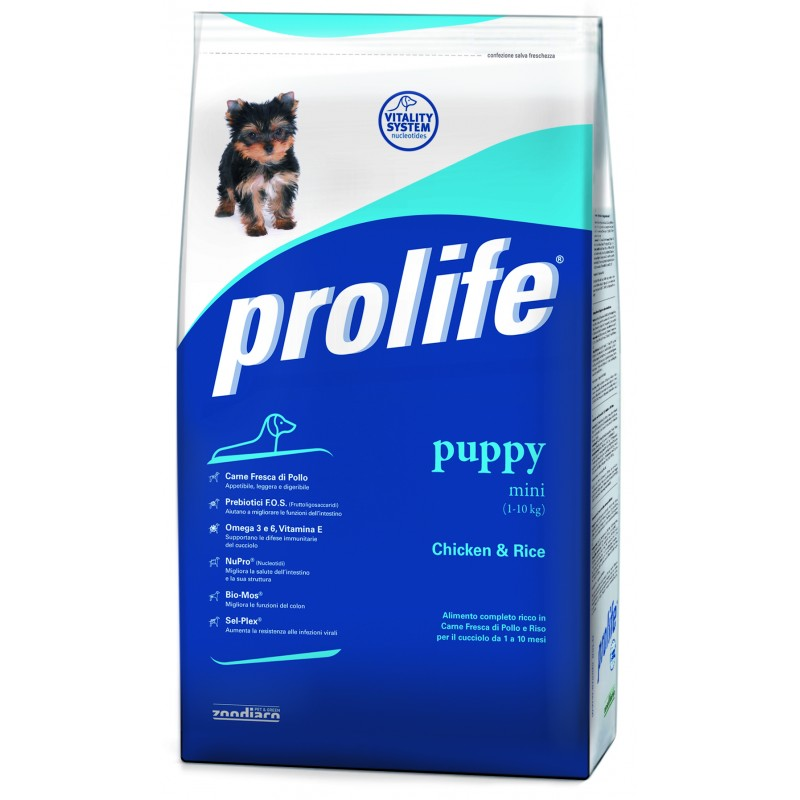 Prolife Puppy Mini con Pollo e Riso per Cani