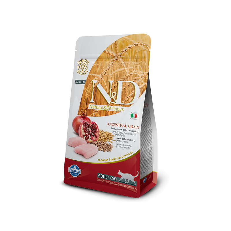 Farmina N&D Ancestral Low-Grain Adult Cat con Pollo e Melograno per Gatti