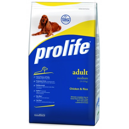 Prolife Adult Medium con Pollo e Riso per Cani