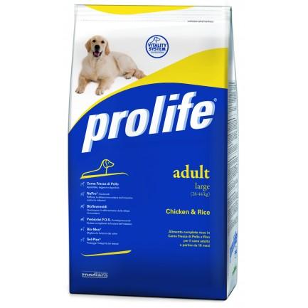 Prolife Adult Large con Pollo e Riso per Cani