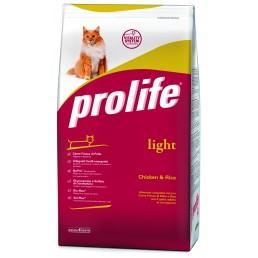 Prolife Adult Cat Light con Pollo e Riso per Gatti