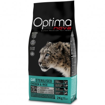 Optima Nova Cat Sterilised con Pollo e Riso