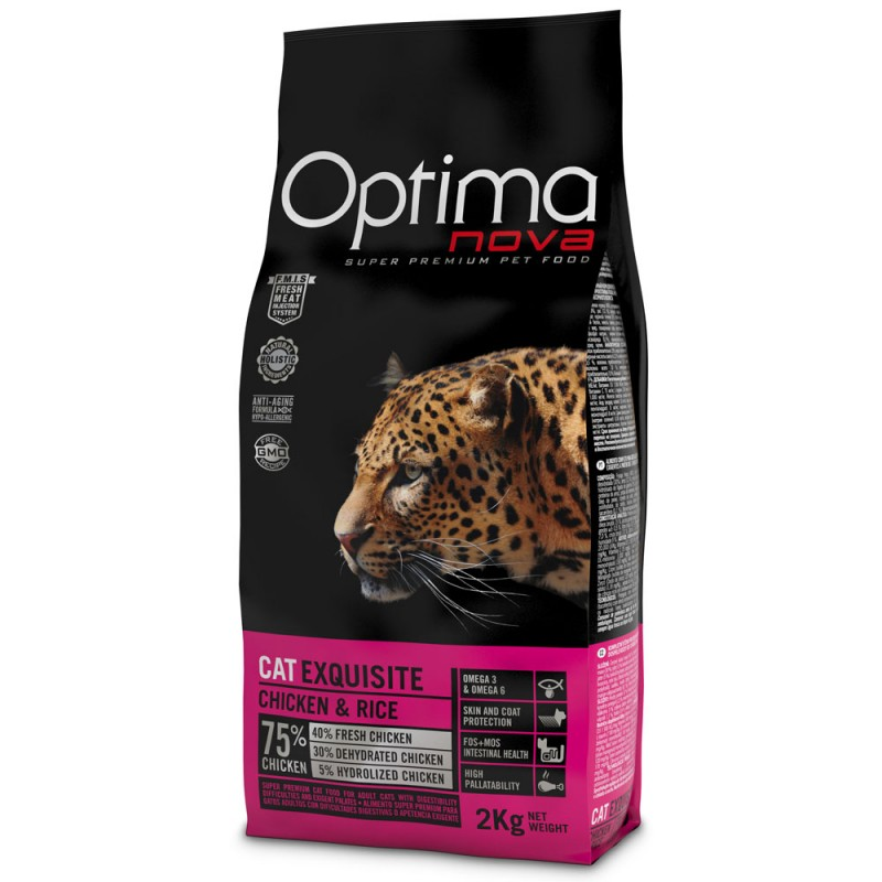 Optima Nova Cat Exquisite con Pollo e Riso