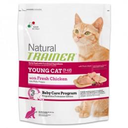 Natural Trainer Young Cat con Pollo Fresco