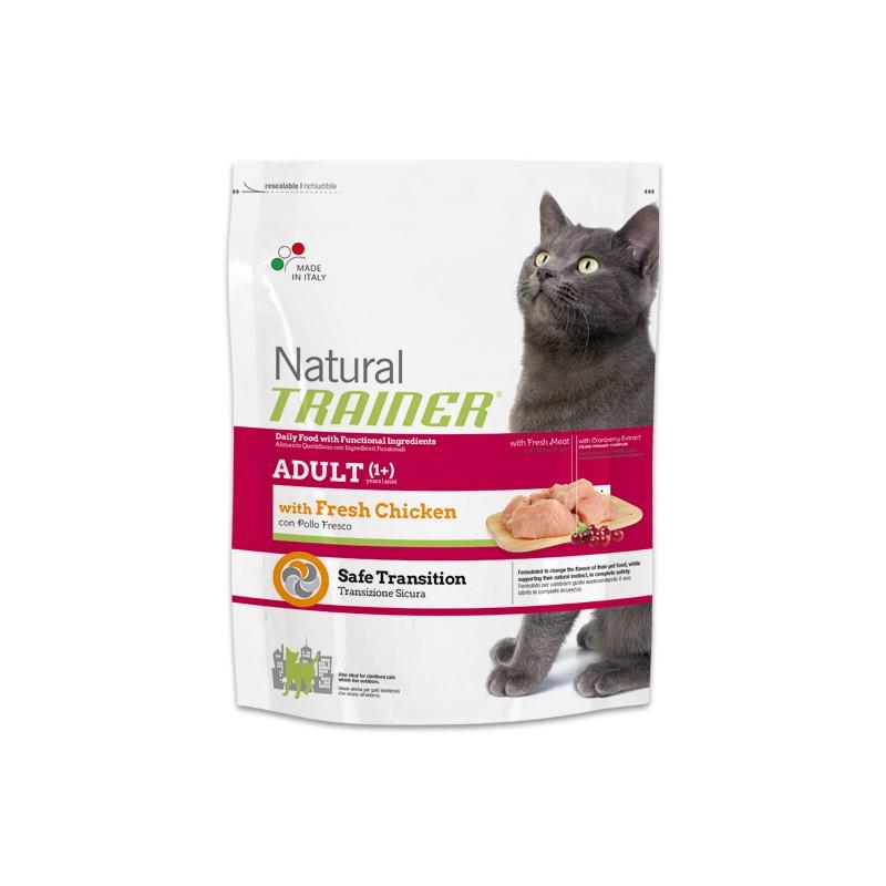 Natural Trainer Adult Cat con Pollo Fresco