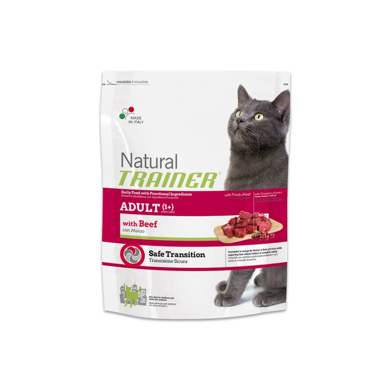 Natural Trainer Adult Cat con Manzo