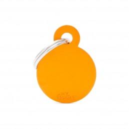 Medaglietta Cerchio Piccolo Alluminio Arancio