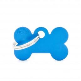 Medaglietta Osso Piccolo Alluminio Blu