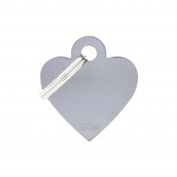 Medaglietta Cuore Piccolo Alluminio Blu