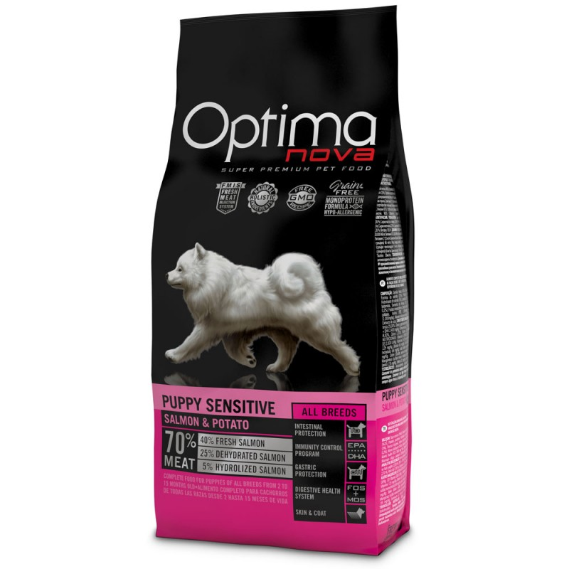 Optima Nova Puppy Sensitive con Salmone e Patate