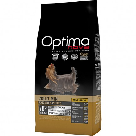 Optima Nova Adult Mini con Pollo e Patate GRAIN FREE