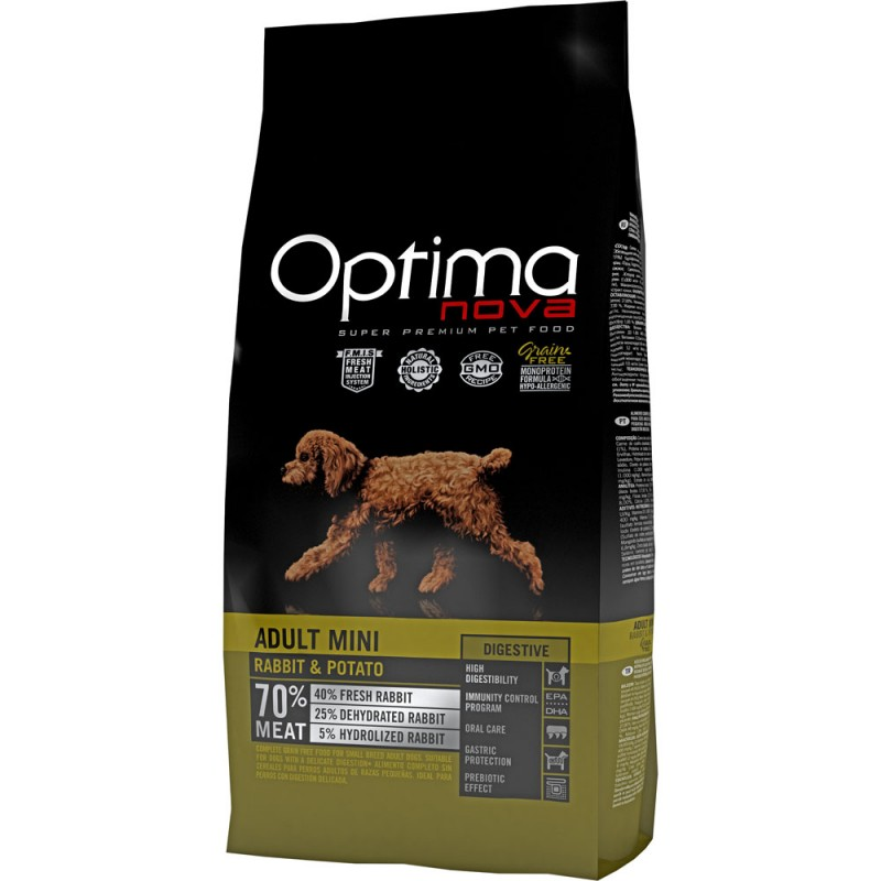 Optima Nova Adult Mini con Coniglio e Patate GRAIN FREE