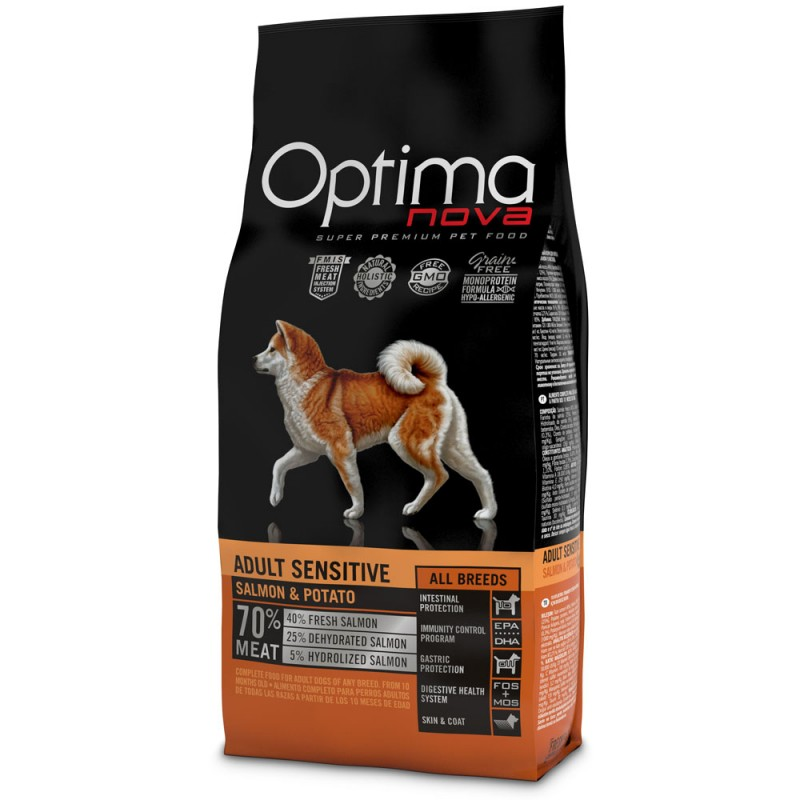 Optima Nova Adult con Salmone e Patate GRAIN FREE