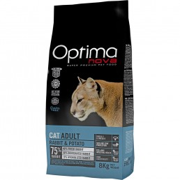 Optima Nova Cat Adult con Coniglio e Patate GRAIN FREE