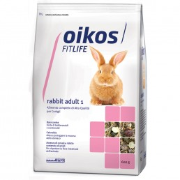 Oikos Rabbit Adult 1 Mantenimento Plus Alimento Completo Conigli