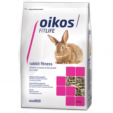 Oikos Rabbit Fitness Mantenimento Alimento Completo per Conigli di Casa
