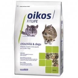 Oikos Chinchilla e Degu Adult Alimento Completo per Cincilla' e Degu