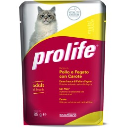 Prolife Cat Multi Taste Adult - 12 bustine da 85 gr