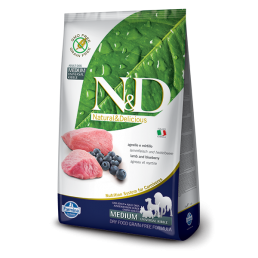 Farmina N&D Grain-Free Adult con Agnello e Mirtillo per Cani di taglia grande