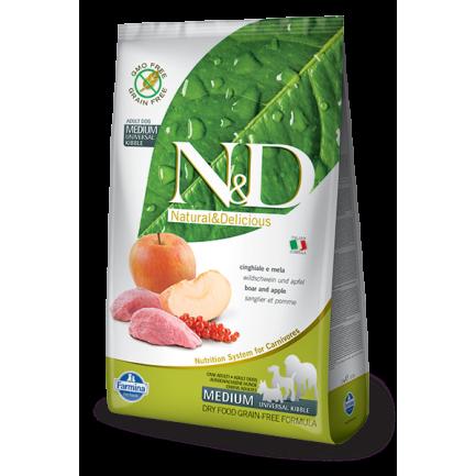 Farmina N&D Grain-Free Adult con Cinghiale e Mela per Cani di taglia grande