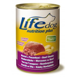 Life Dog Nutrition Plus Manzo a pezzettoni con patate