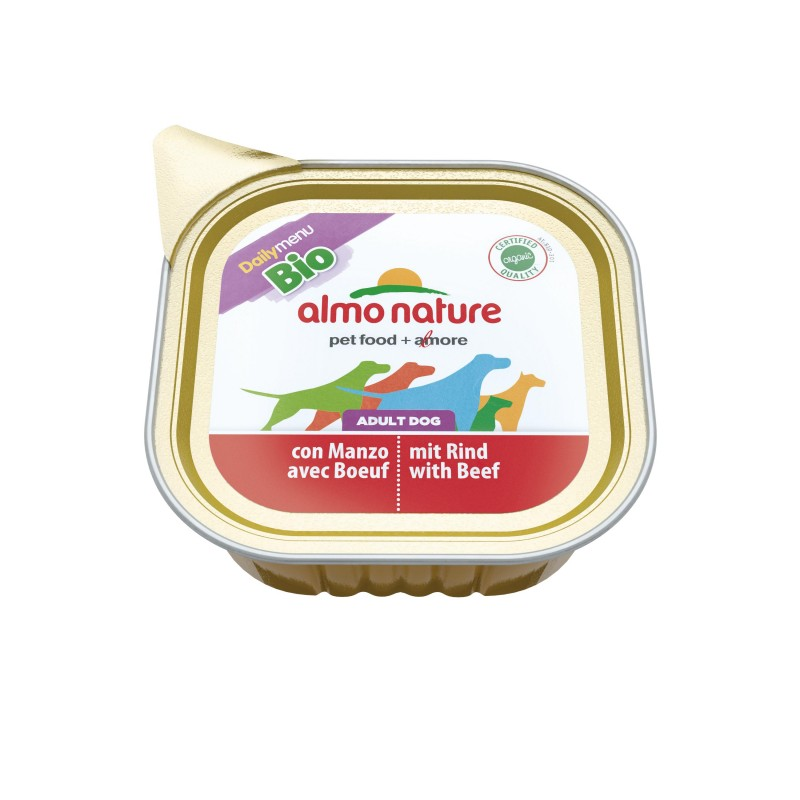 Almo Nature Daily Menu BIO Adult Dog - 16 vaschette da 100 gr per Cani