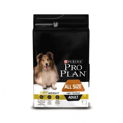 PURINA PRO PLAN CANE optiweight Adult Light Sterilised Pollo
