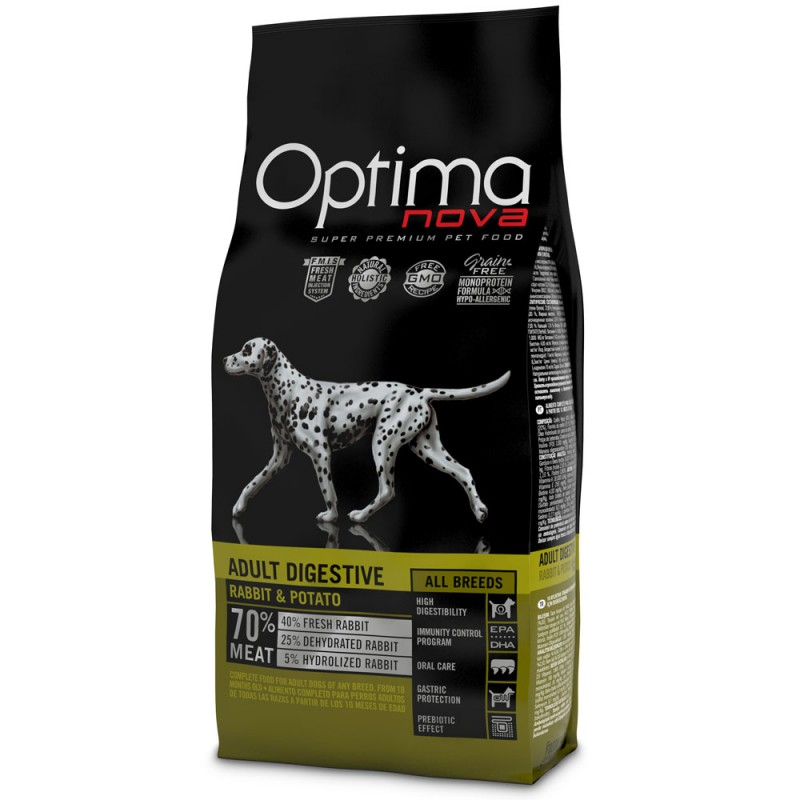 Optima Nova Adult Digestive con Coniglio e Patate GRAIN FREE