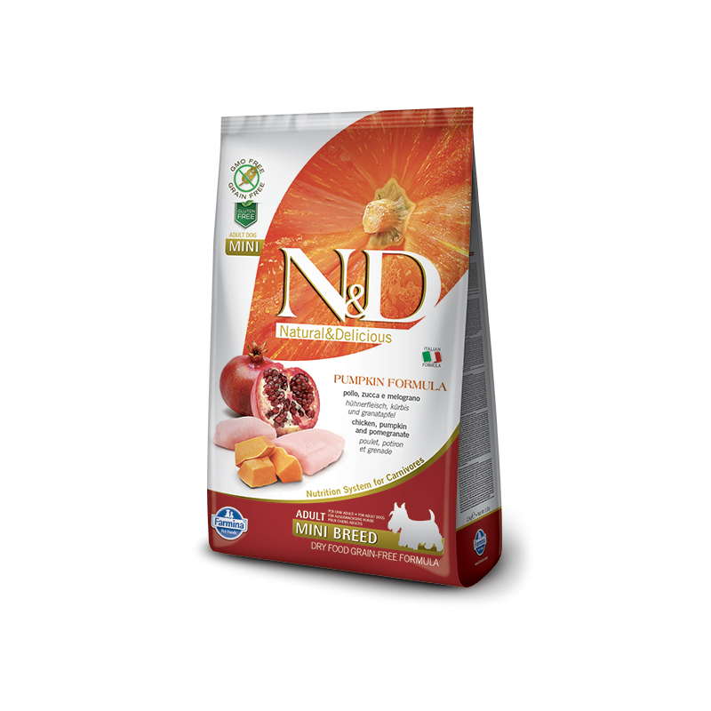 Farmina N&D Pumpkin Grain-Free Adult Mini Pollo e Melograno per Cani