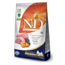 Farmina N&D Pumpkin Grain-Free Adult Mini Agnello e Mirtillo per Cani
