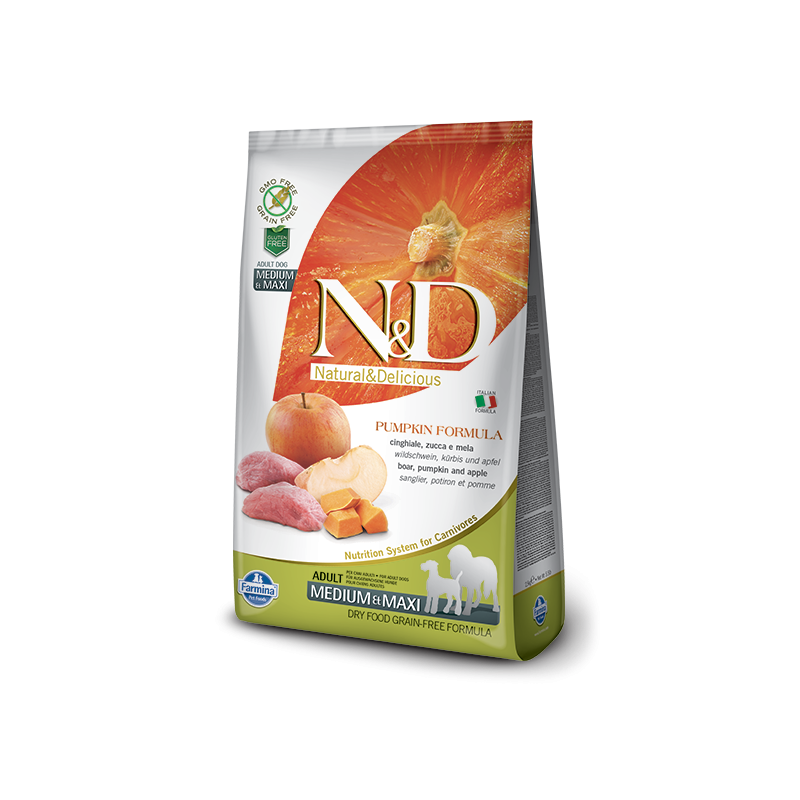 Farmina N&D Pumpkin Grain-Free Adult Medium-Maxi Cinghiale e Mela per Cani