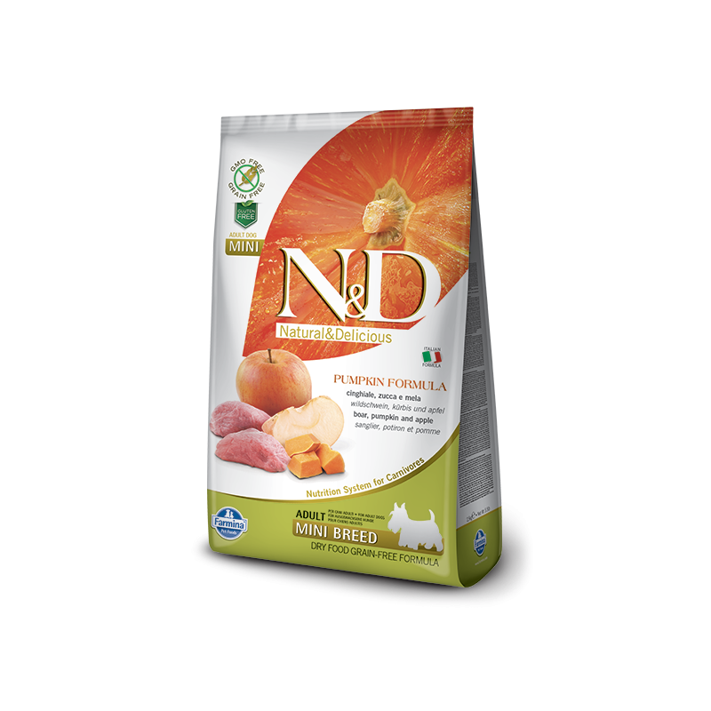 Farmina N&D Pumpkin Grain-Free Adult Mini Cinghiale e Mela per Cani