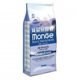 Monge Grain Free con Acciughe Patate e Piselli per Cani