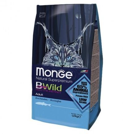Monge Bwild Adult con Acciughe per Gatti