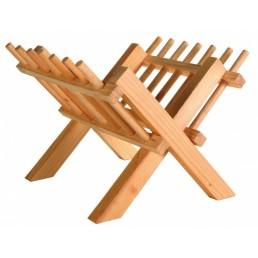 mangiatoia in legno per fieno ed erba