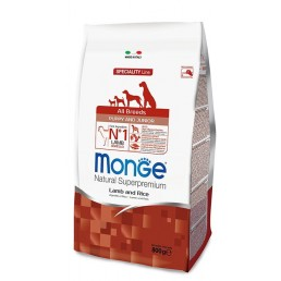 Monge All Breeds Puppy Junior con Agnello e Riso per Cuccioli