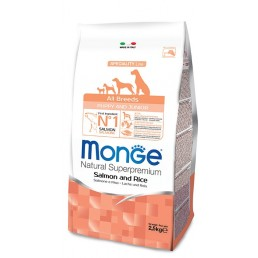 Monge All Breeds Puppy Junior con Salmone e Riso per Cuccioli