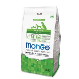 Monge All Breeds Adult Coniglio, Riso e Patate per Cani
