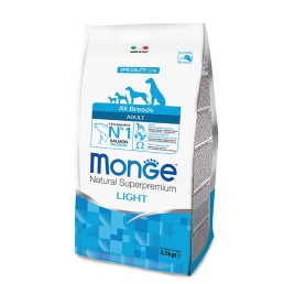 Monge All Breeds Adult Light Salmone e Riso per Cani