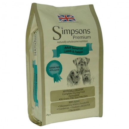 Simpson Adult Sensitive con Agnello e Patate per Cani
