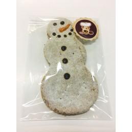 Biscotto Natalizio per Cani Pupazzo di Neve