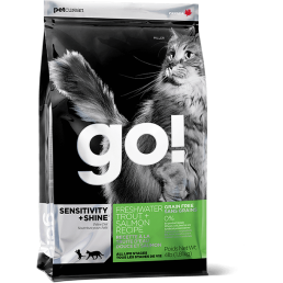PetCurean GO! Sensitive + Shine Trota e Salmone GRAIN FREE per Gatti